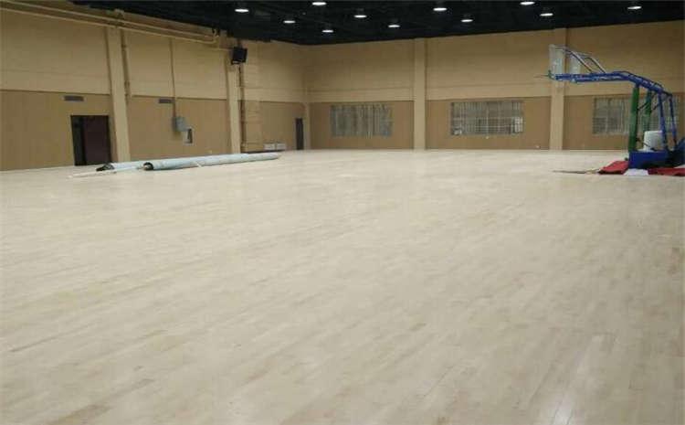 浙江柞木籃球場地板施工方案