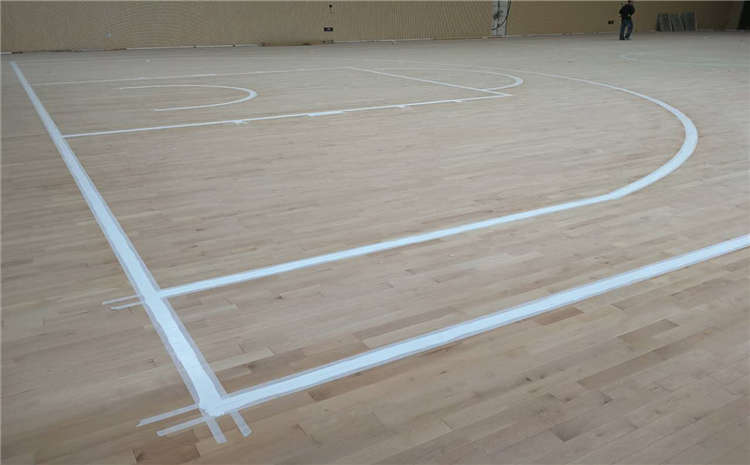 大型篮球场木地板维修