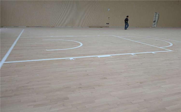 主辅龙骨结构篮球馆木地板多少钱一平?