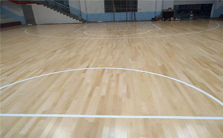 篮球馆指接板运动木地板生产厂家