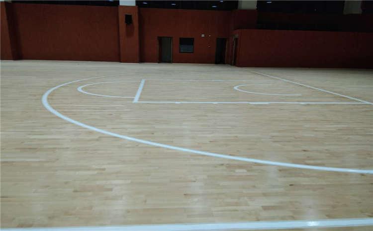 硬木企口排球馆木地板每平米价格