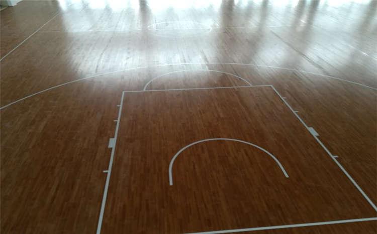 银川企口体育木地板结构