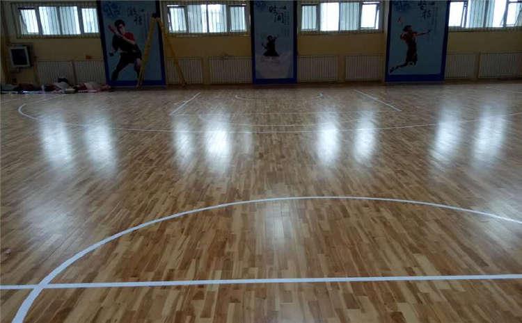 硬木企口运动篮球地板造价