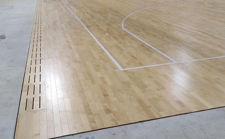 学校风雨操场实木运动地板价格及图片