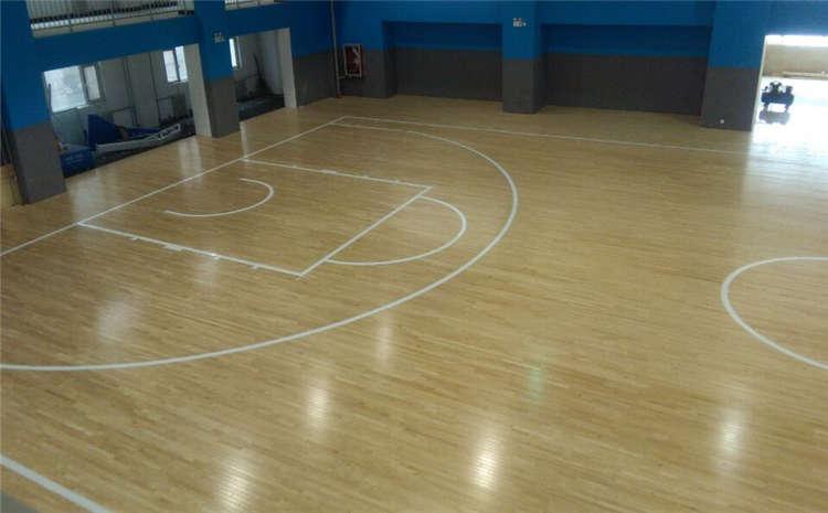 松木篮球场木地板施工技术方案
