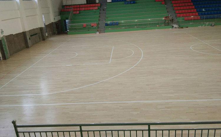 柞木NBA篮球场木地板板式龙骨结构