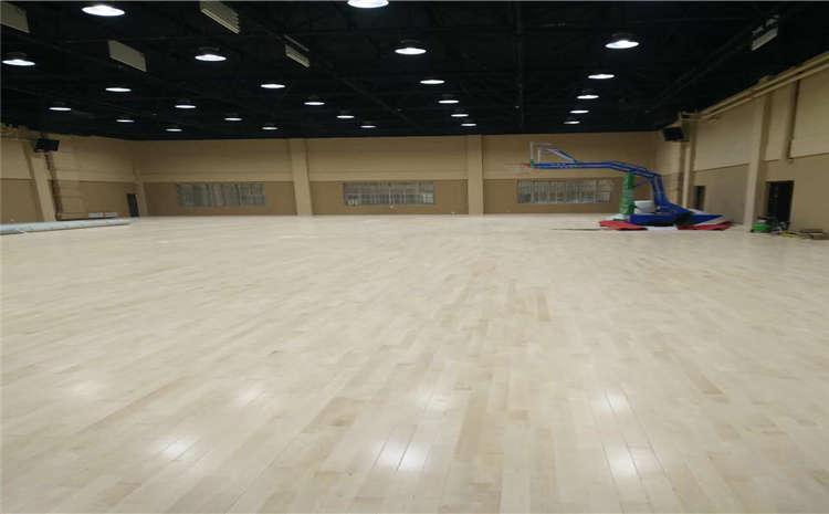 呼和浩特硬木企口籃球場地板是多少錢