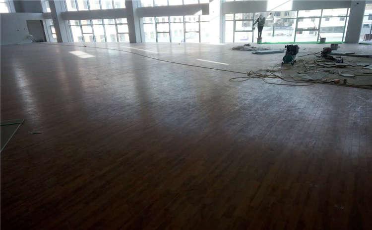 内蒙古硬木企口篮球场地板多少钱一平米