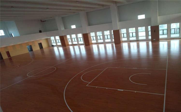 五角枫篮球场地木地板单层龙骨结构