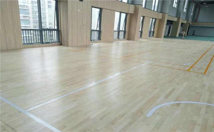 拉萨柞木篮球场地板施工技术