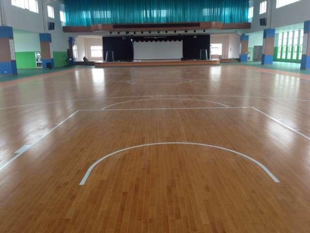 江西上饶婺源县茶校体育场馆木地板