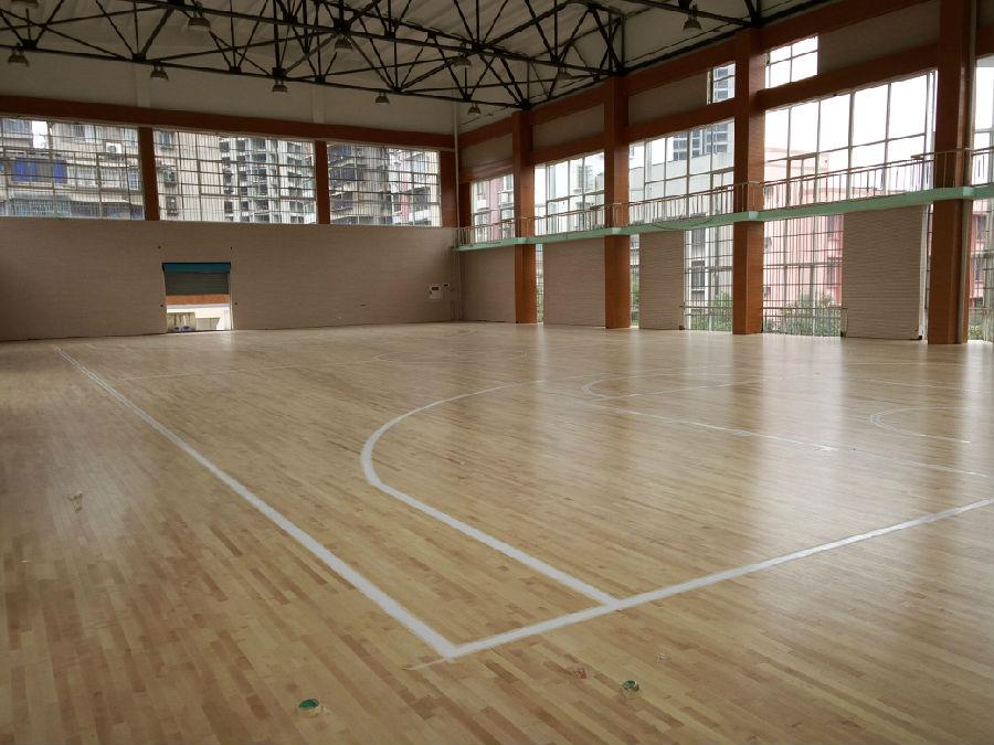 贵阳市第二实验中学篮球场木地板