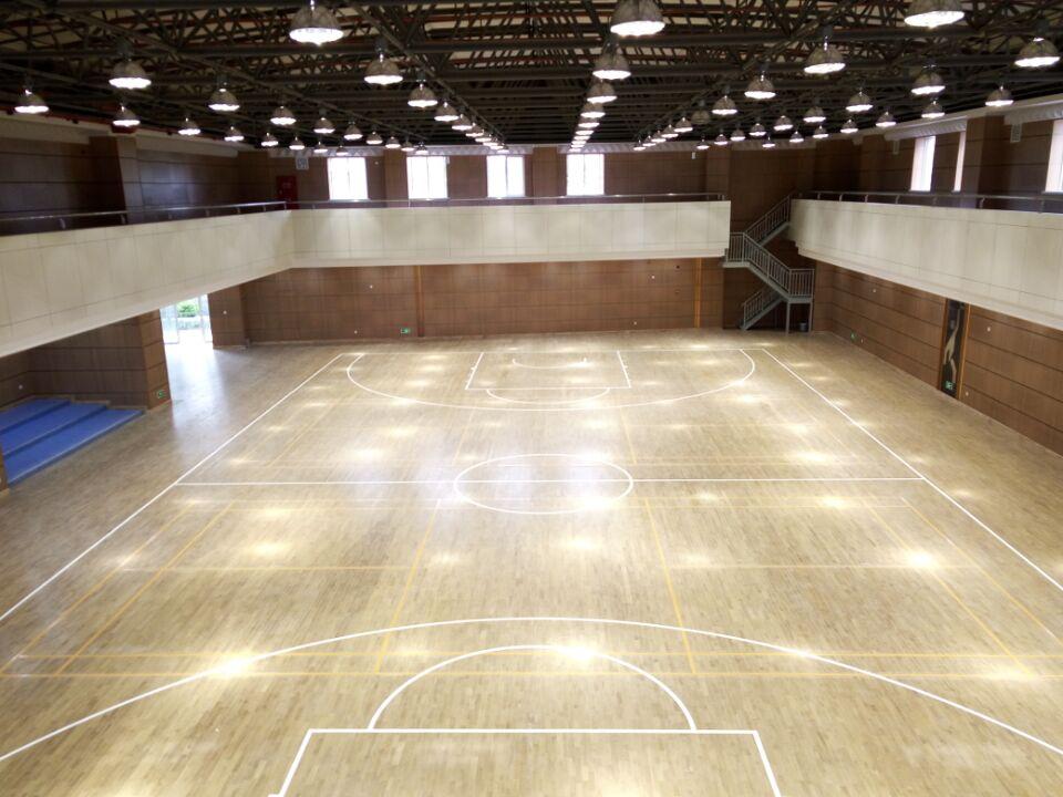 高境中学篮球馆木地板成功案例