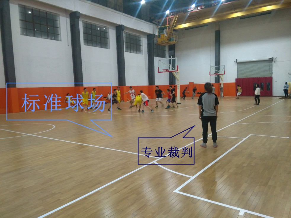 浙江篮球馆木地板-上虞8090篮球俱乐部案例