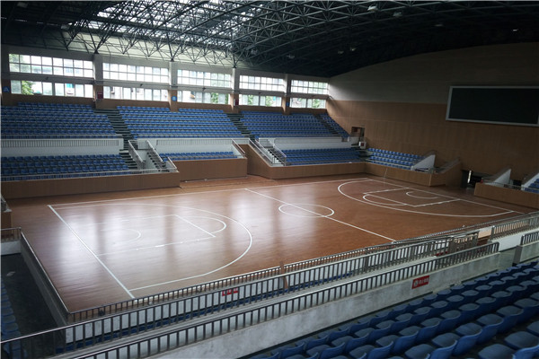 成都彭州运动木地板体育中心成功案例