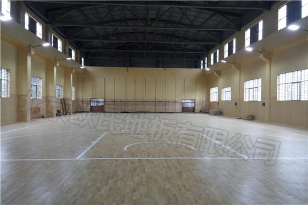 湖南郴州第十八完小羽毛球馆运动木地板成功案例