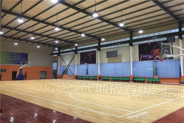 青岛黄岛区涌泉湾篮球俱乐部运动木地板