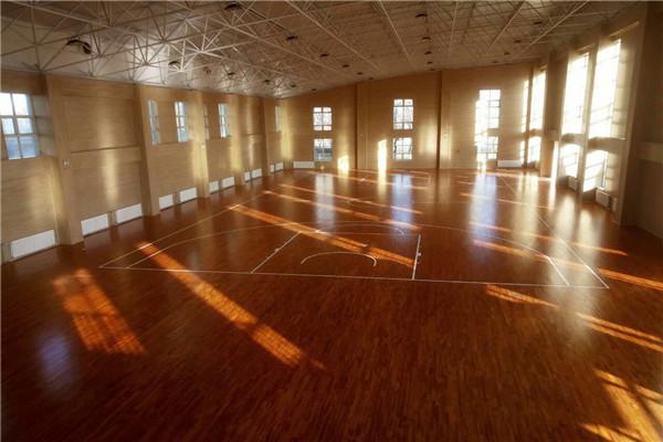 宁夏中卫消防支队篮球木地板成功案例