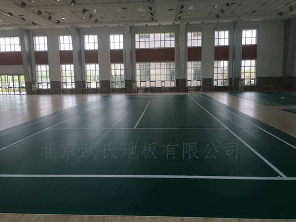 宁夏银川体育运动地板:银川消防总队培训基地室内体育馆运动木地板案例