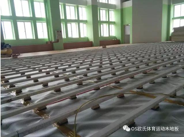 汕头特殊教育学校篮球馆木地板案例图2