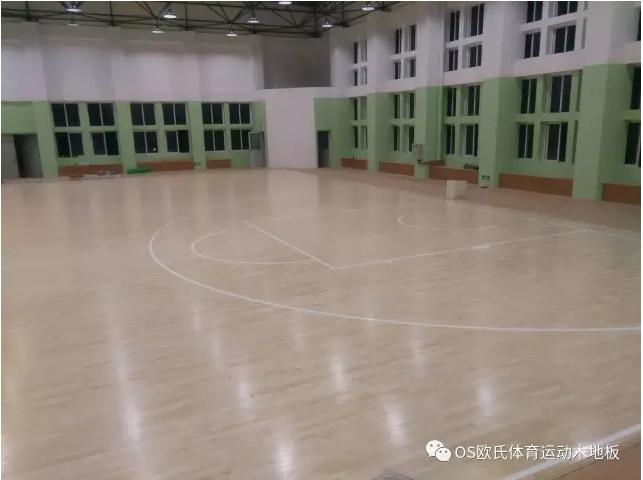 汕头特殊教育学校篮球馆木地板案例图6