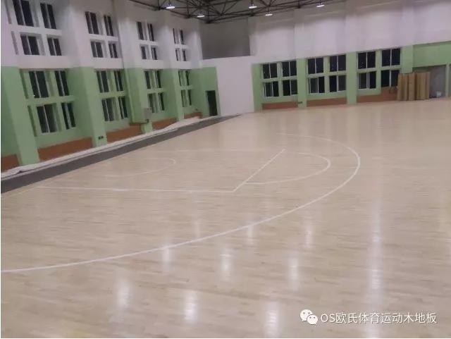 汕头特殊教育学校篮球馆木地板案例图9