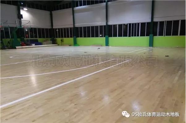 单龙骨运动木地板--广东省连州市地方税务局成功案例图1