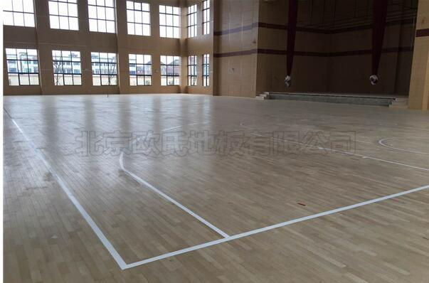 福州雷甸镇中心小学篮球馆木地板案例-6
