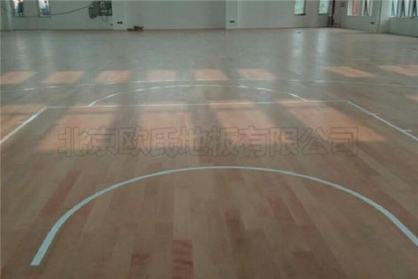 烟台开发区第十小学运动木地板工程案例