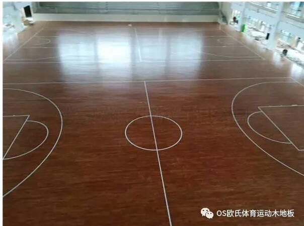 重庆忠县中学运动木地板案例