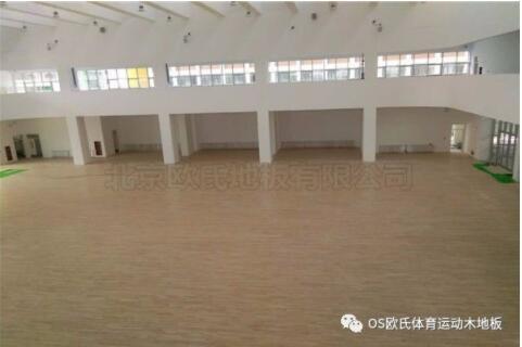 宁夏石嘴山星海中学体育木地板案例