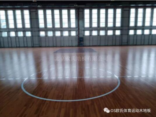 长沙市明德启南中学体育馆木地板成功案例