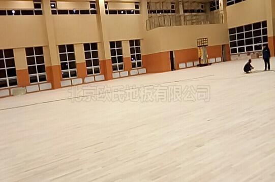 辽宁盘锦大洼高级中学篮球馆体育木地板