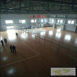 河北邢台体育馆运动木地板:邢台帅博体育体育馆木地板案例