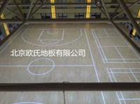 陕西榆林体育馆木地板:榆林吴堡县武警中队训练馆木地板案例