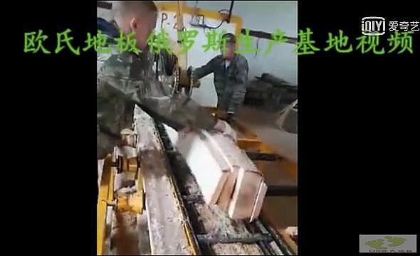 欧氏地板俄罗斯生产基地视频一角