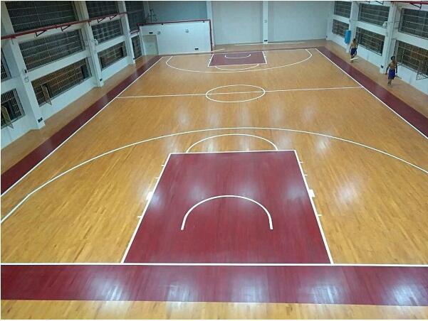 湖南长沙雨花区芙蓉路小学篮球馆地板案例