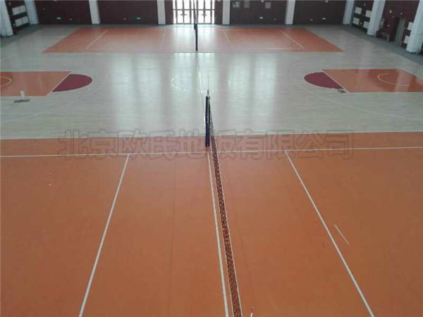 新疆伊犁体校篮球馆地板案例