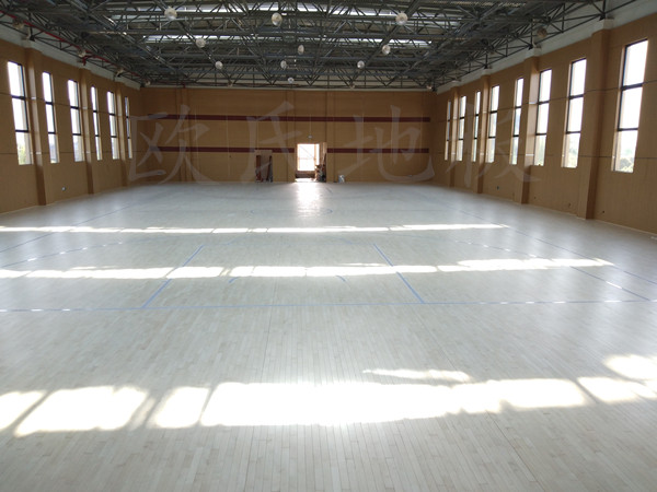 浙江德清县三合中心学校体艺馆木地板案例