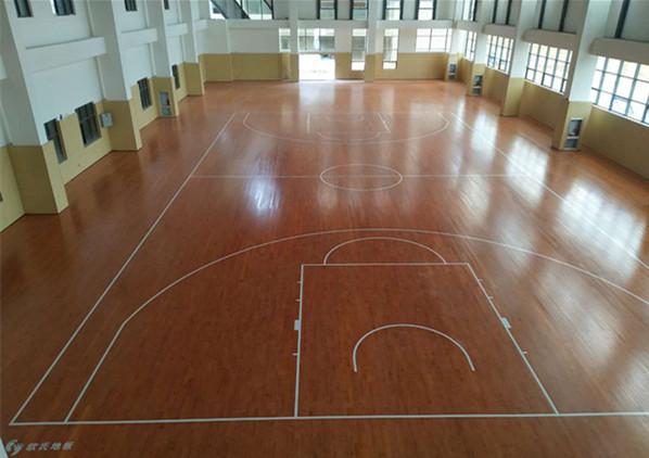 云南省蒙自市师范学院体育馆地板