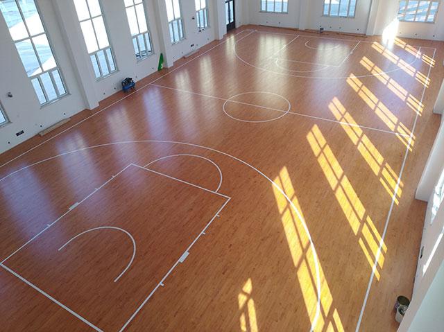 哈尔滨消防大队篮球馆运动木地板项目