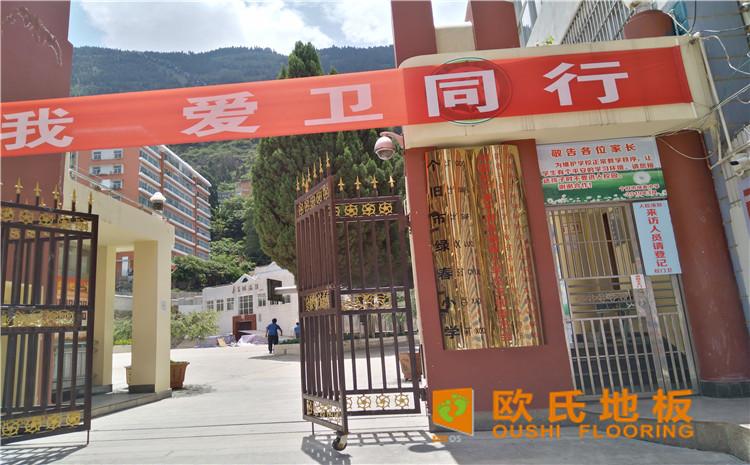 云南省个旧市绿春小学体育馆木地板案例