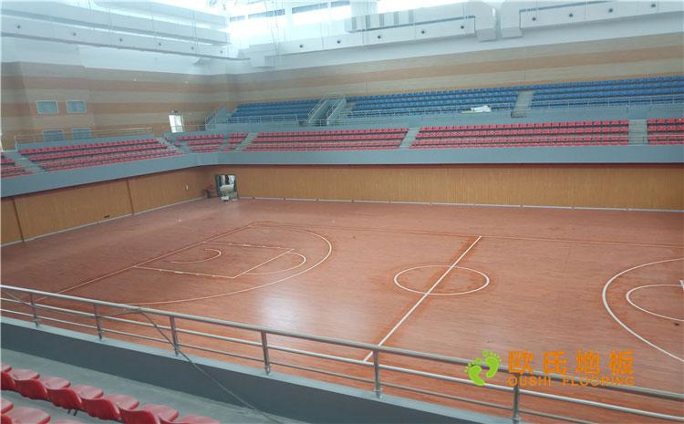 福建漳州市一职业学院体育馆木地板案例