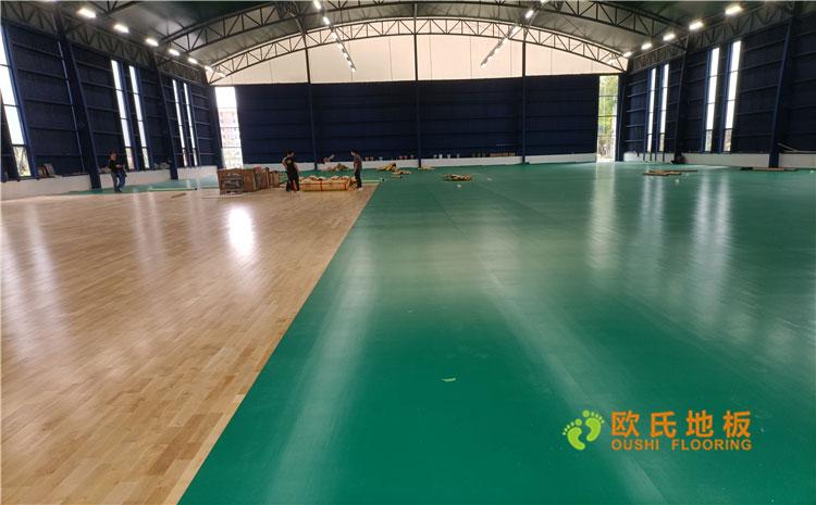 湖北武汉体育馆单龙骨结构木地板案例