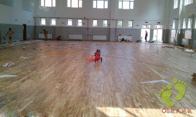北京次渠2校篮球馆运动木地板铺设工程
