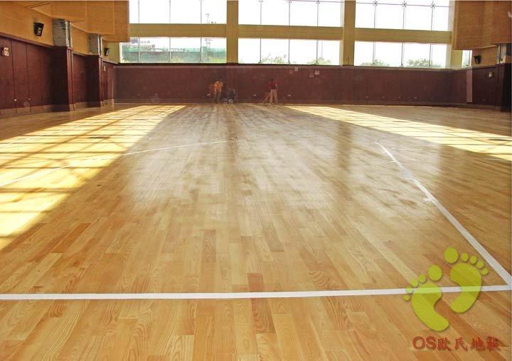 宁夏通讯枢纽工程体育馆运动木地板铺设